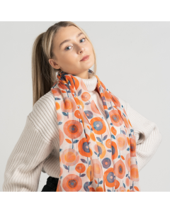 1153 In Bloom Scarf Ivory